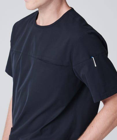 Radius Men's Scrub Top-Black-S