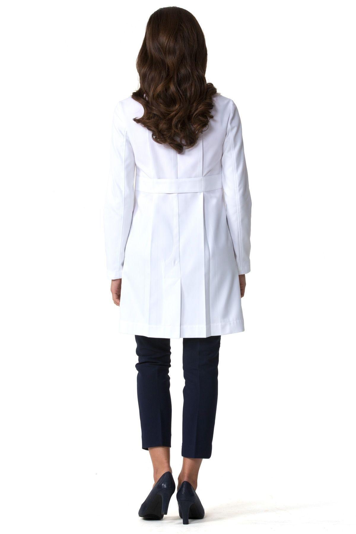 White lab apron -  M3 Ellody Lab Coat Petite Fit