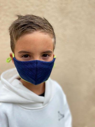 Knit Face Masks-Navy-Child