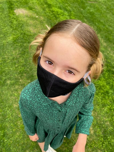 Knit Face Masks-Black-Child