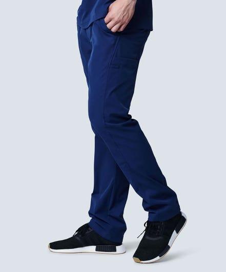 Men's Summit Scrub Pants-Navy-XS