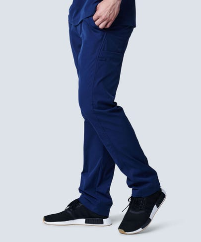 men's navy scrub pants