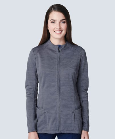 Ionic Women's Scrub Jacket-Graphite-XS
