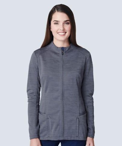 Ionic Women's Scrub Jacket - Graphite
