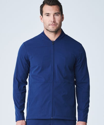 Men's Navy Kinetic Scrub Jacket