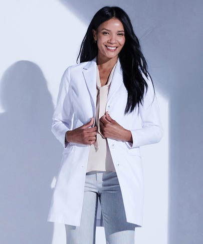 Rebecca Women's Slim Fit Lab Coat in Stretch