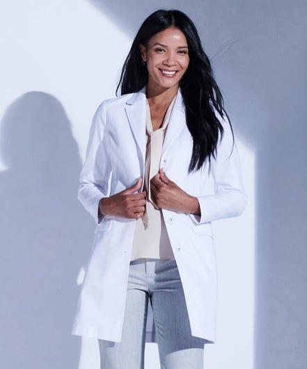 Rebecca Women's Slim Fit Lab Coat in Stretch