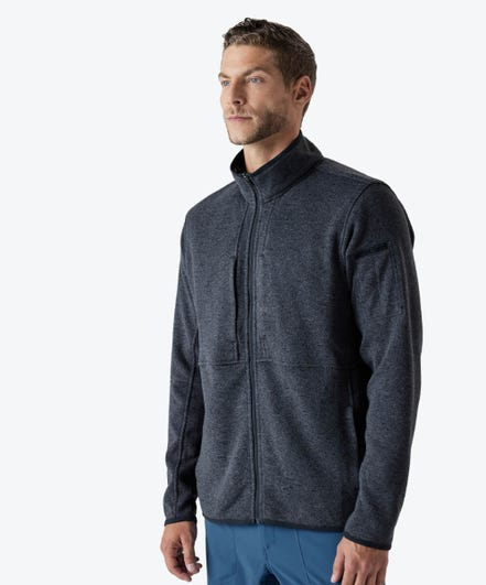 Strata Men's Fleece Jacket-Iron-XXL