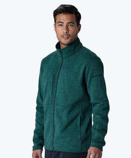 Strata Men's Fleece Jacket-Jade-XXL