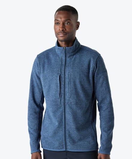 Strata Men's Fleece Jacket-Slate Blue-XXL