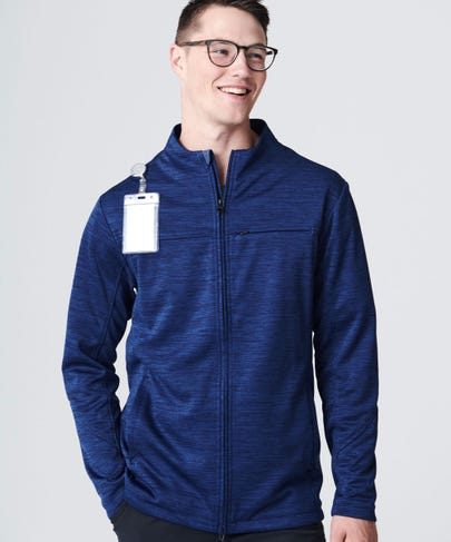 Ionic Men's Scrub Jacket - Navy