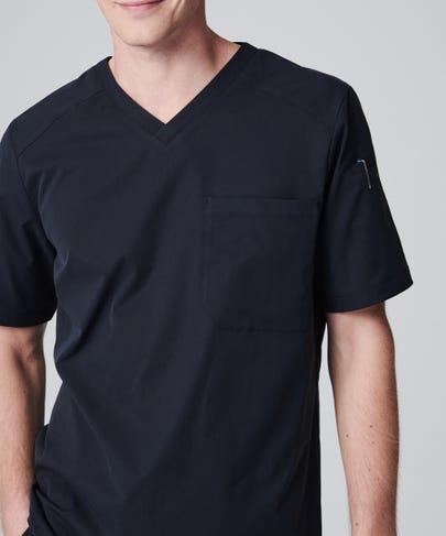 Men's Apex Scrub Top-Black-XS