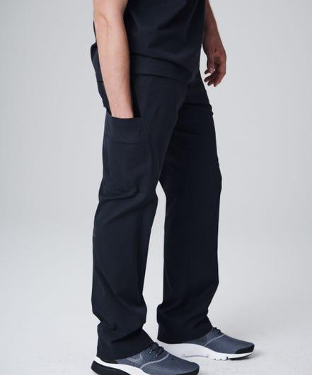 Men's Summit Scrub Pants-Black-XS