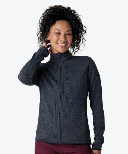 Strata Women's Fleece Jacket-Iron-XXL