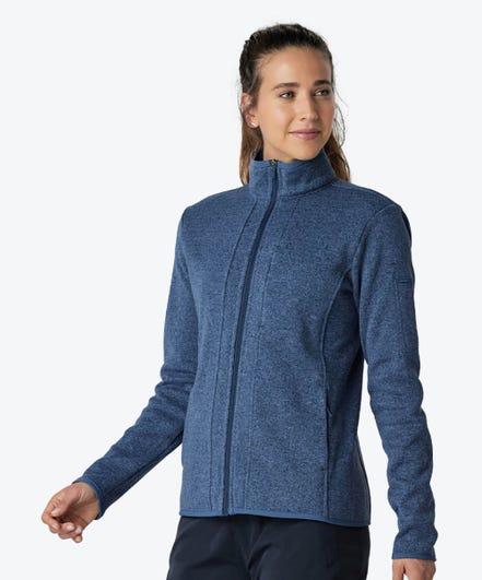 Strata Women's Fleece Jacket-Slate Blue-XXL