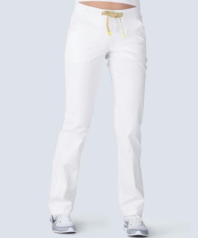women's white scrub pants