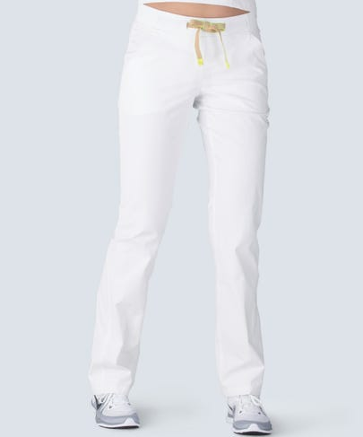 women's white scrub pants