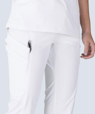women's white scrub pants Delta