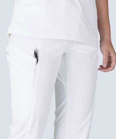 women's white scrub pants Delta
