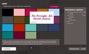 E-Commerce Medical Uniform Company Medelita Launches Sophisticated Personalizations Web App.