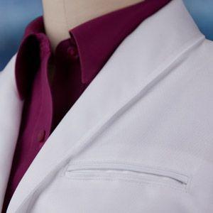 Fluid resistant lab coats