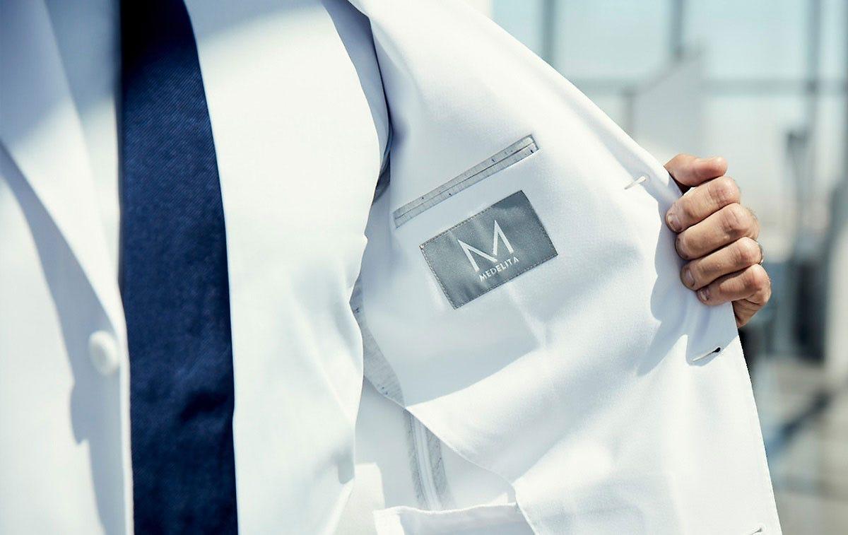 Bernard men's lab coat side