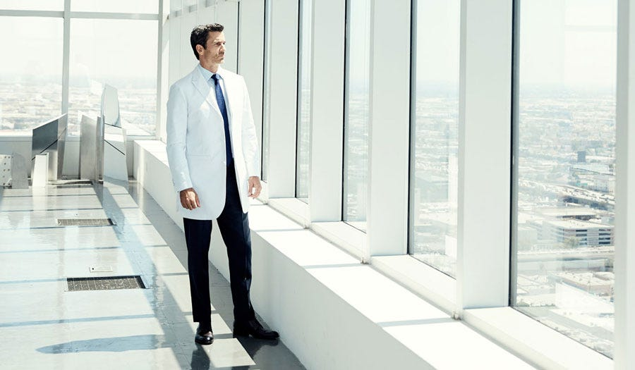 bernard men's lab coat