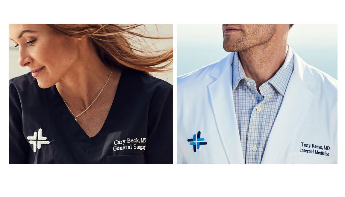 Embroidered Lab Coats and Scrubs