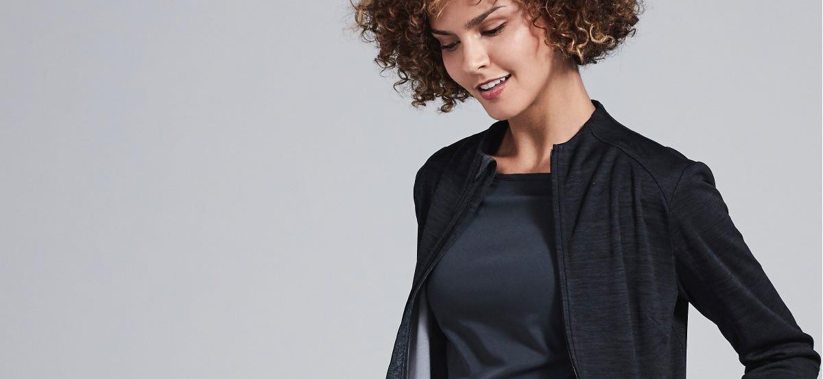 Ionic women's scrub jacket back
