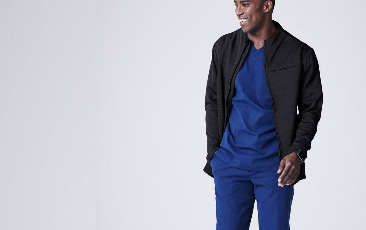 Ionic Men's Scrub Jacket
