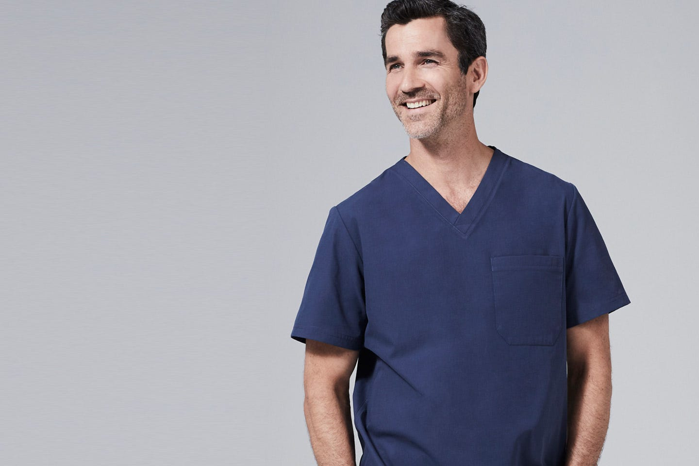 modern fit mens scrub tops