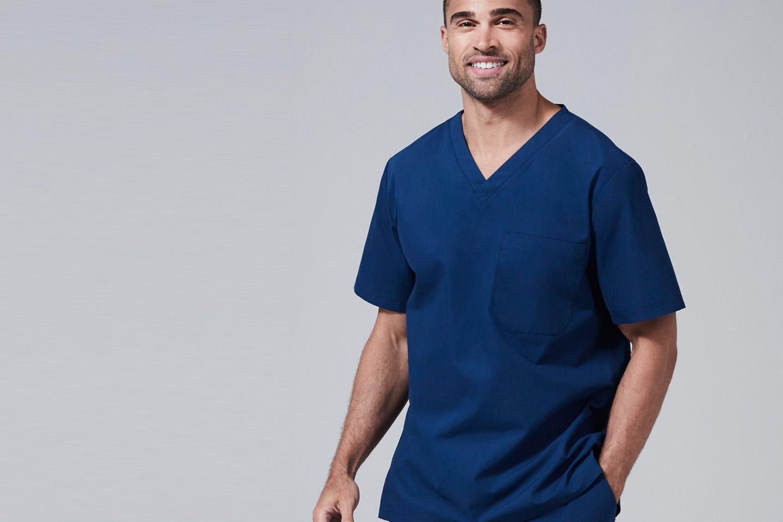 modern fit mens scrub tops