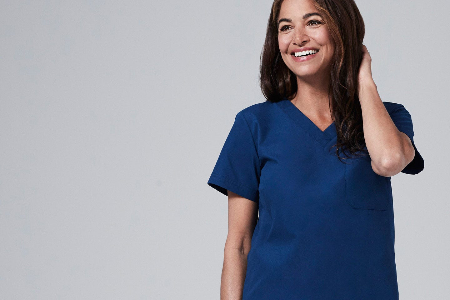 modern fit womens scrub tops