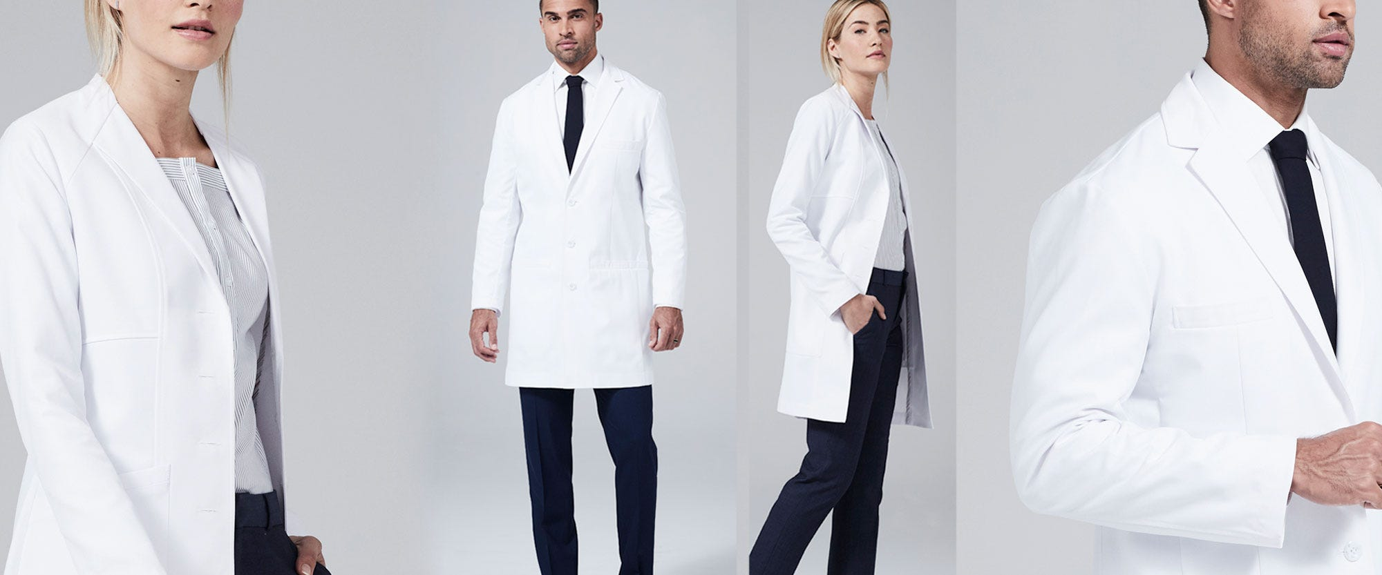 slim fit lab coats