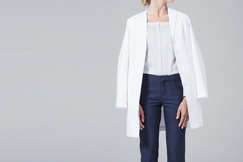Vera women's lab coat