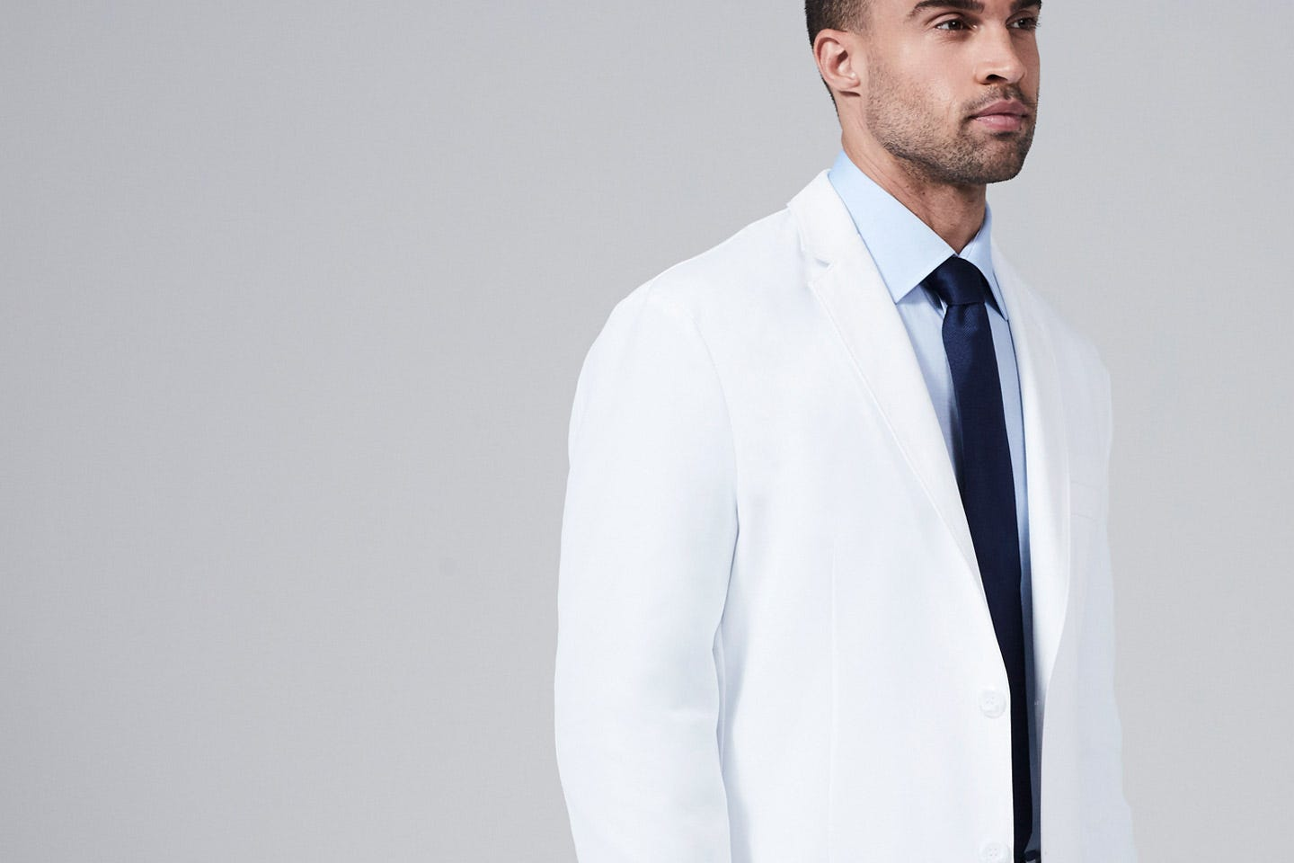E. Wilson men's lab coat side