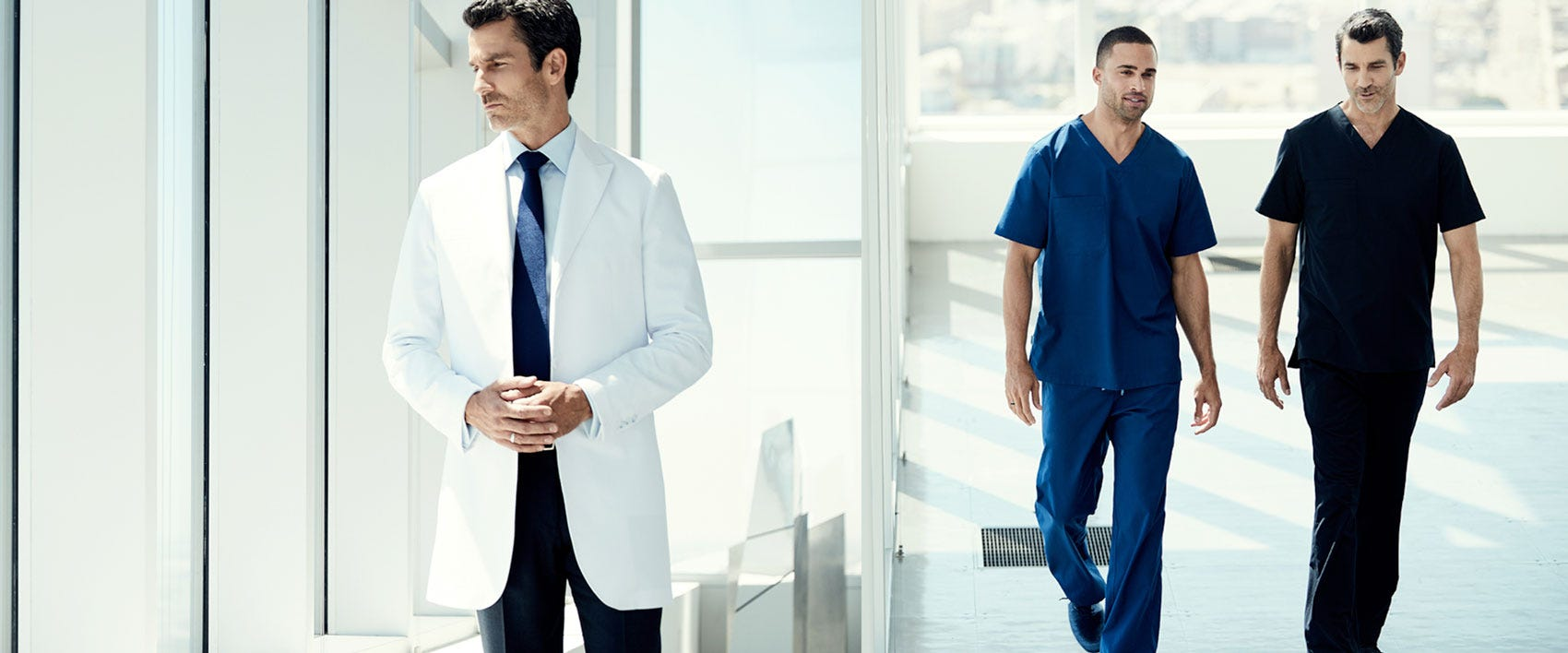 men physician medical uniforms