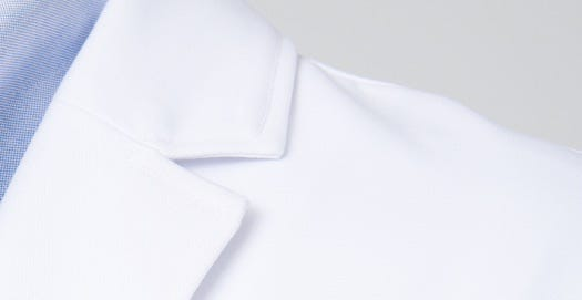 mens element lab coat fabric