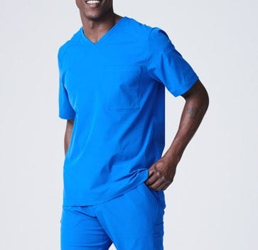 mens scrub tops