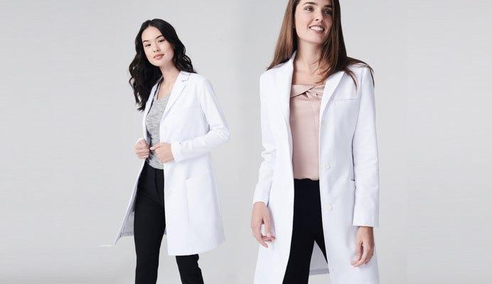 element women's lab coat