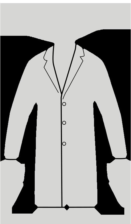 mens tailored fit lab coat