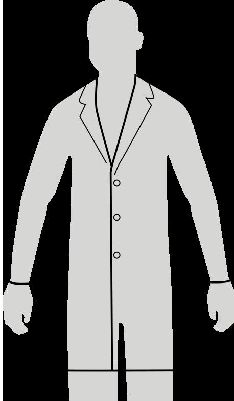 mens slim fit lab coat fit