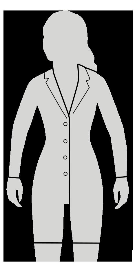 classic fit lab coat fit