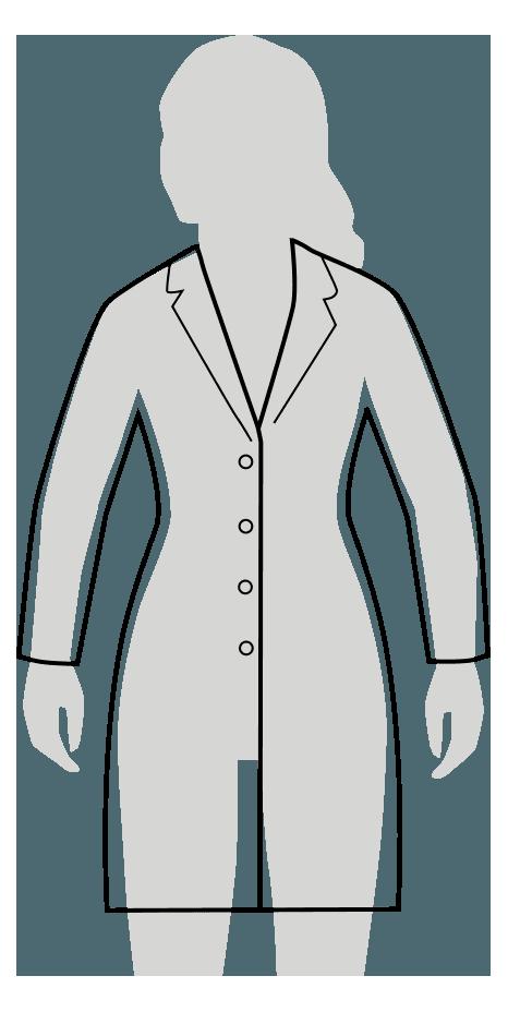 slim fit lab coat fit