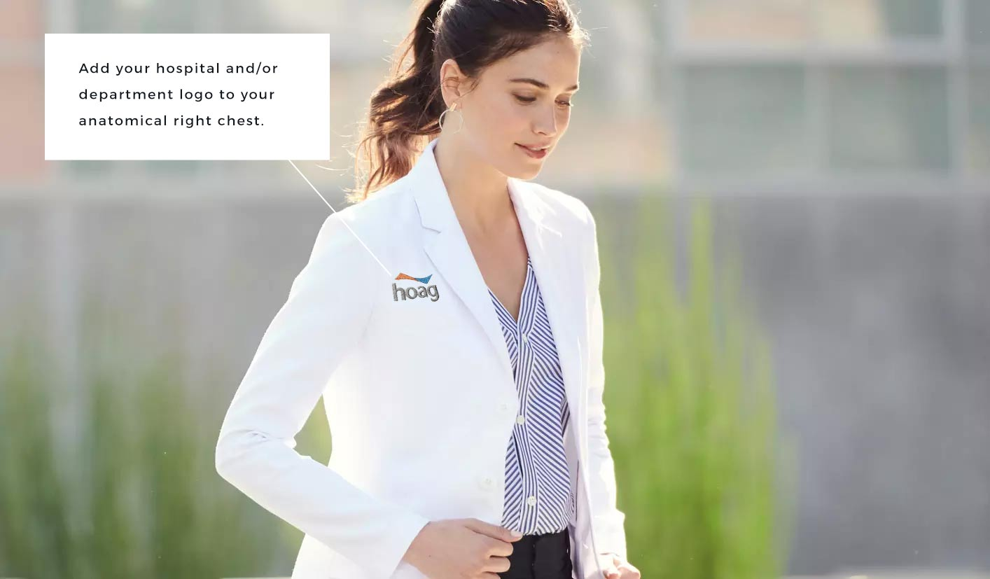 lab coat with hoag hospital logo