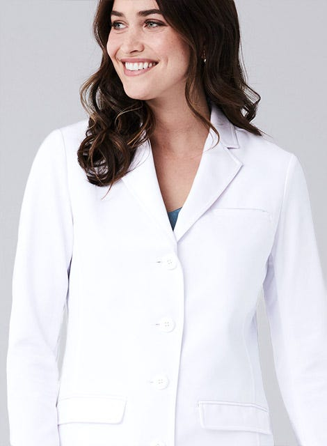 Womens Scrubs and lab coats