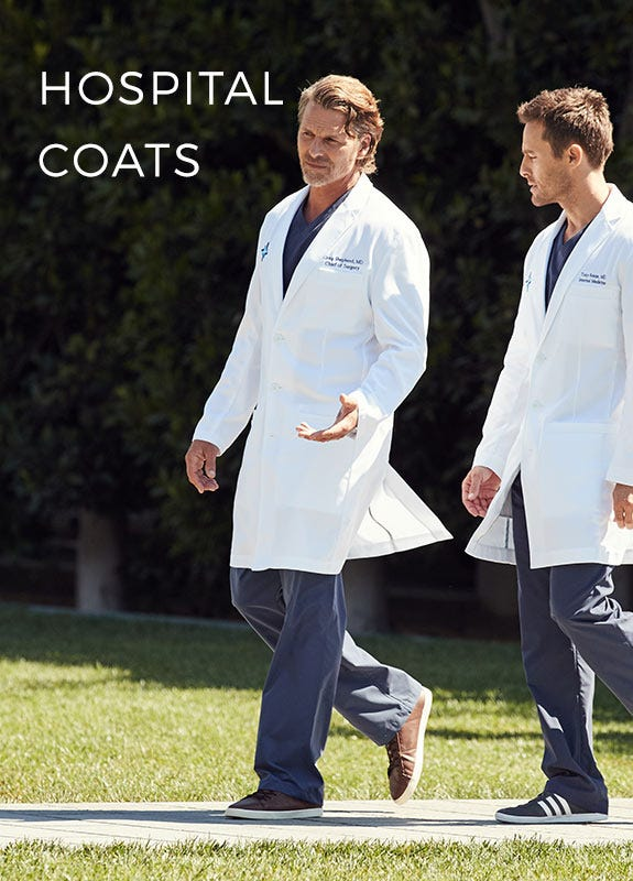 men walking in lab coats