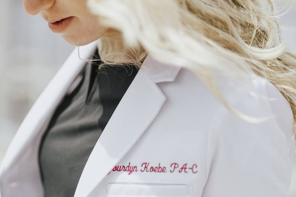 lab coat embroidery