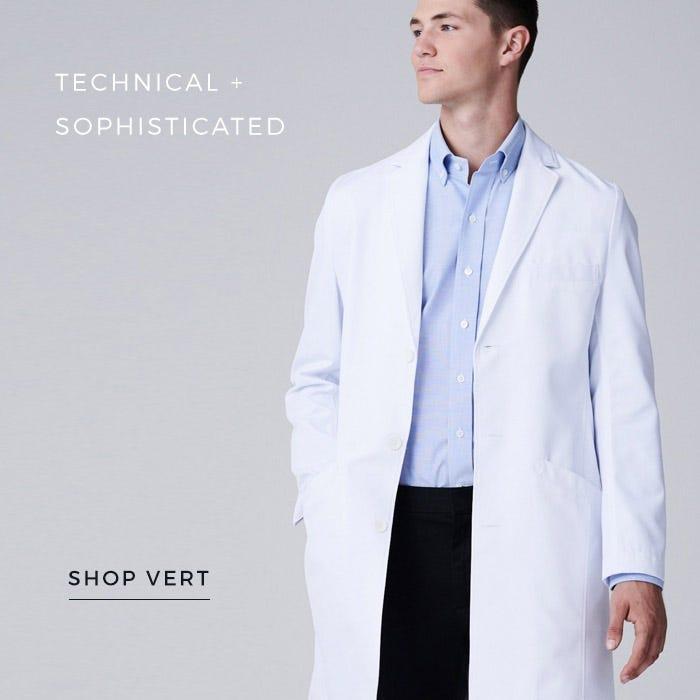 men's vert lab coat
