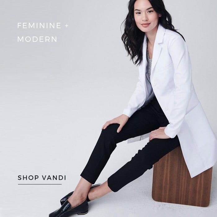 women's vandi lab coat